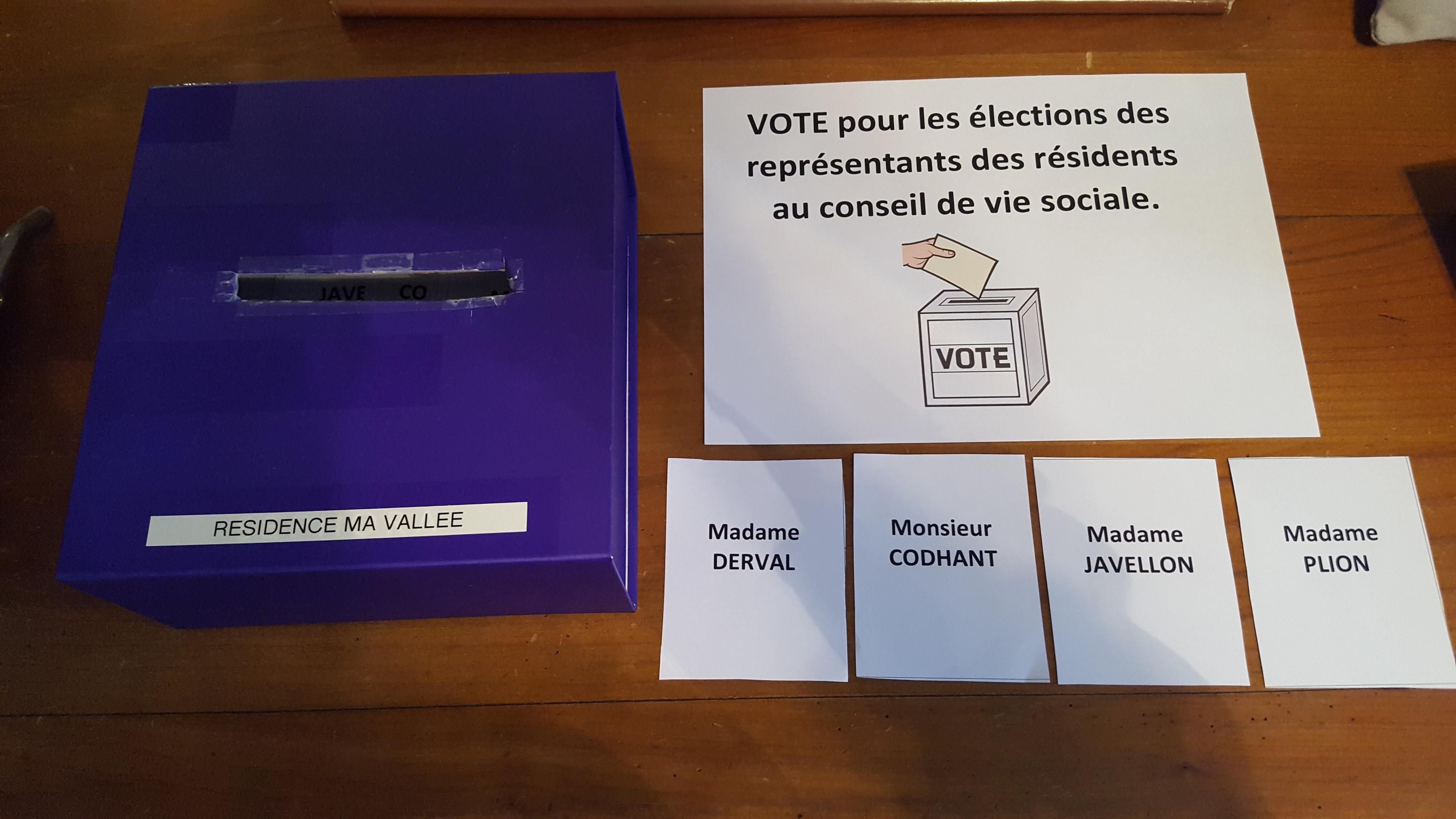 Election des représentants des résidents au CVS